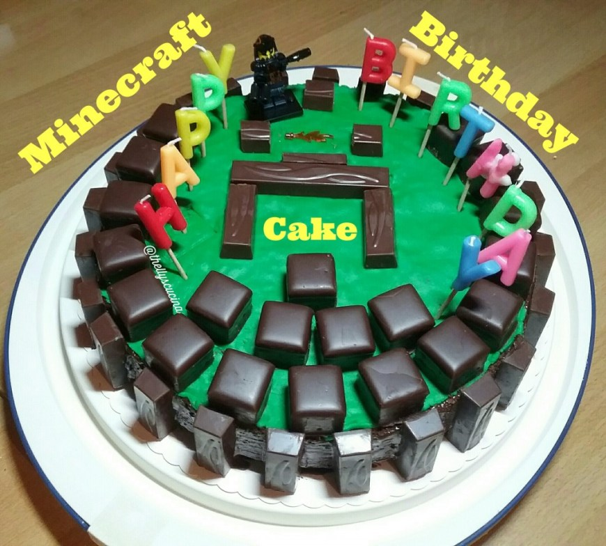 Minecraft Birthday Cake Ideas How To Make A Minecraft Birthday Cake Delishably