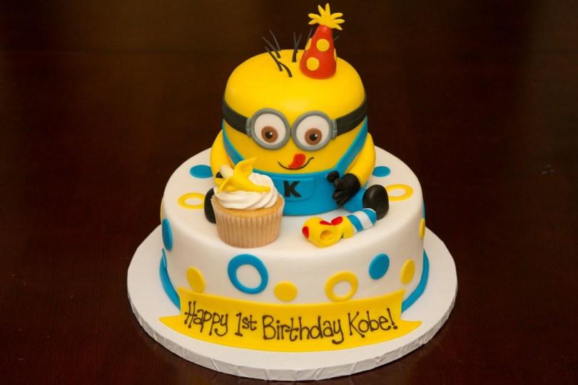 Minions Birthday Cakes 1st Birthday Minion Cake Custom Cakes Pinterest Birthday
