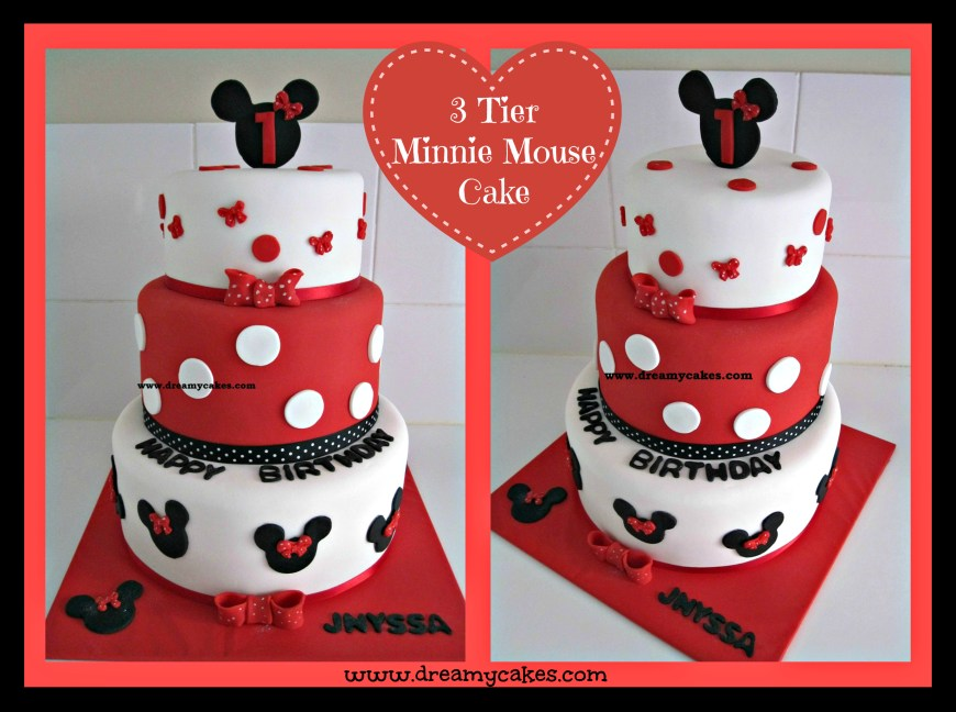 Minnie Mouse Birthday Cake 1st Birthday Cake Minnie Mouse