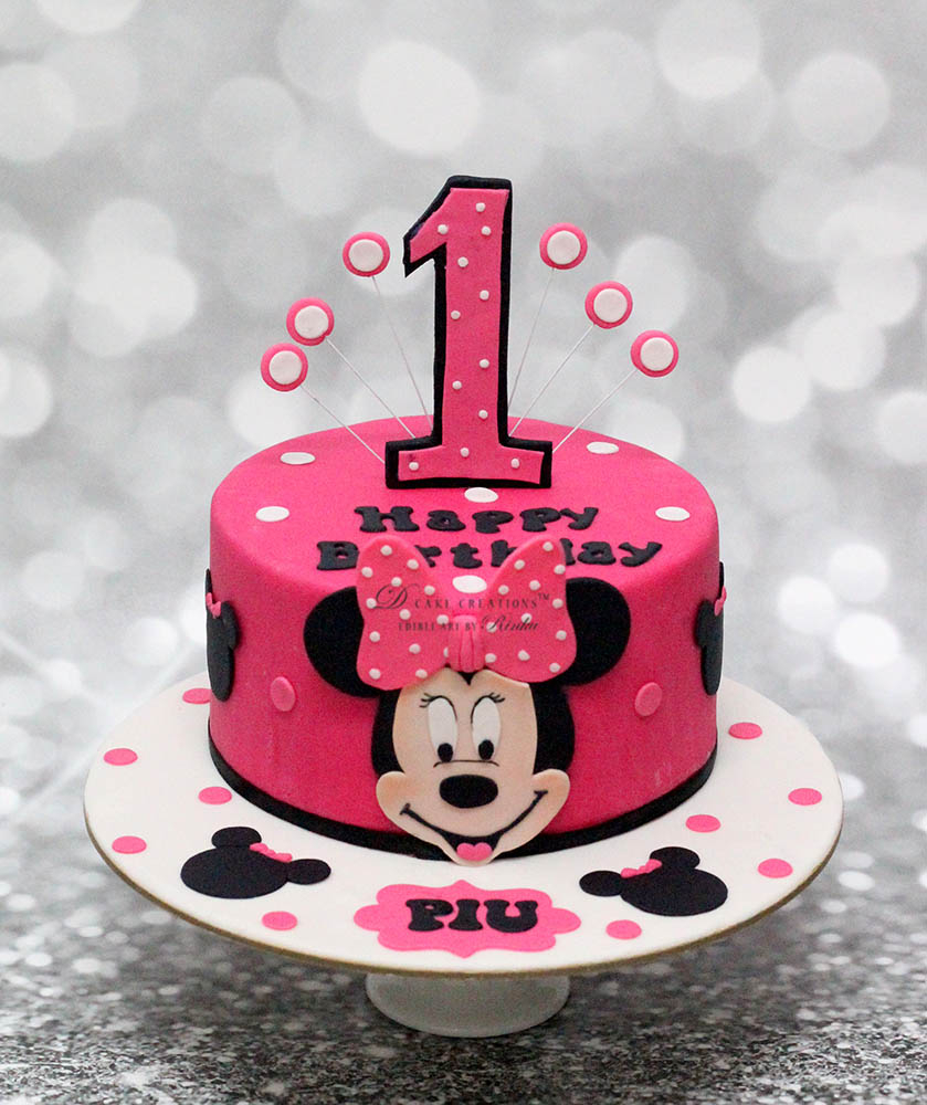Minnie Mouse Birthday Cake Minnie Mouse Cake D Cake Creations