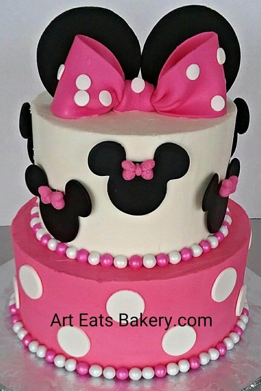 Minnie Mouse Birthday Cake Pin Art Eats Bakery On Girlls Custom Creative Birthday Cake