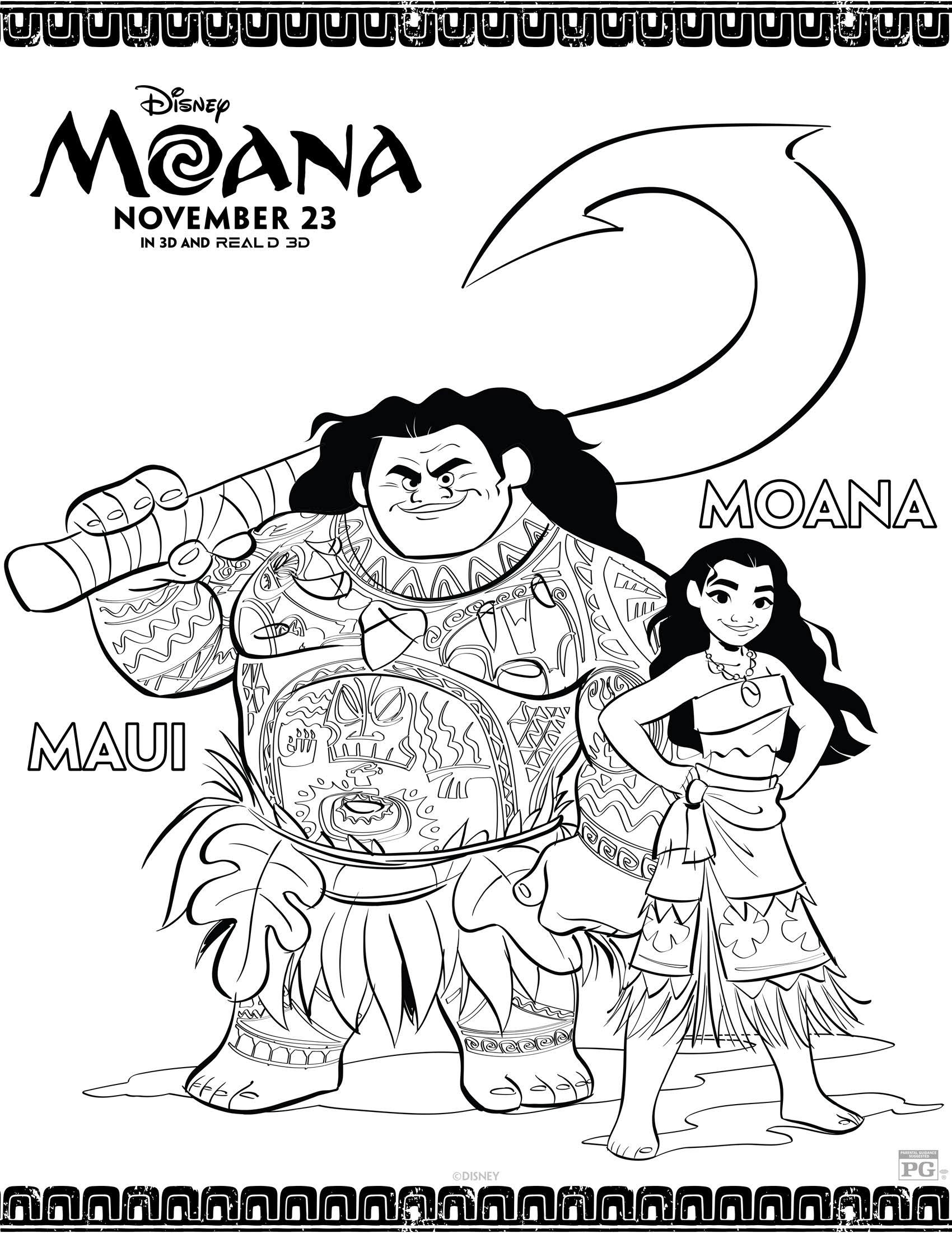 Moana Coloring Pages Pdf Staggering Moana Coloring Pages Print