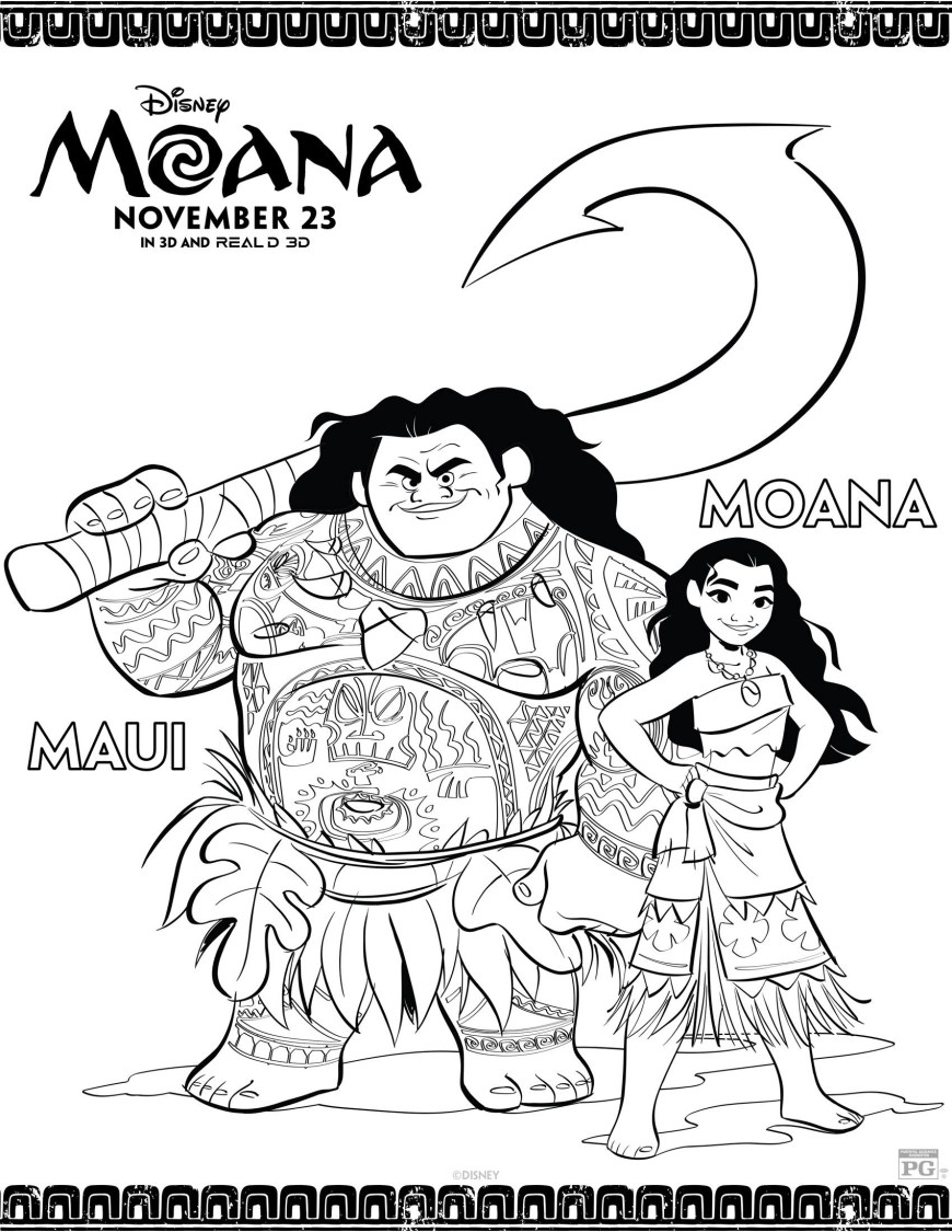 Moana Coloring Pages Pdf Staggering Moana Coloring Pages Print Princess Disney Pretty Papers