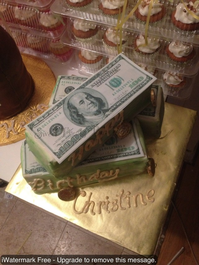Money Birthday Cake Money Birthday Cake Chocolate Cake Covered In Fondant Edible Image