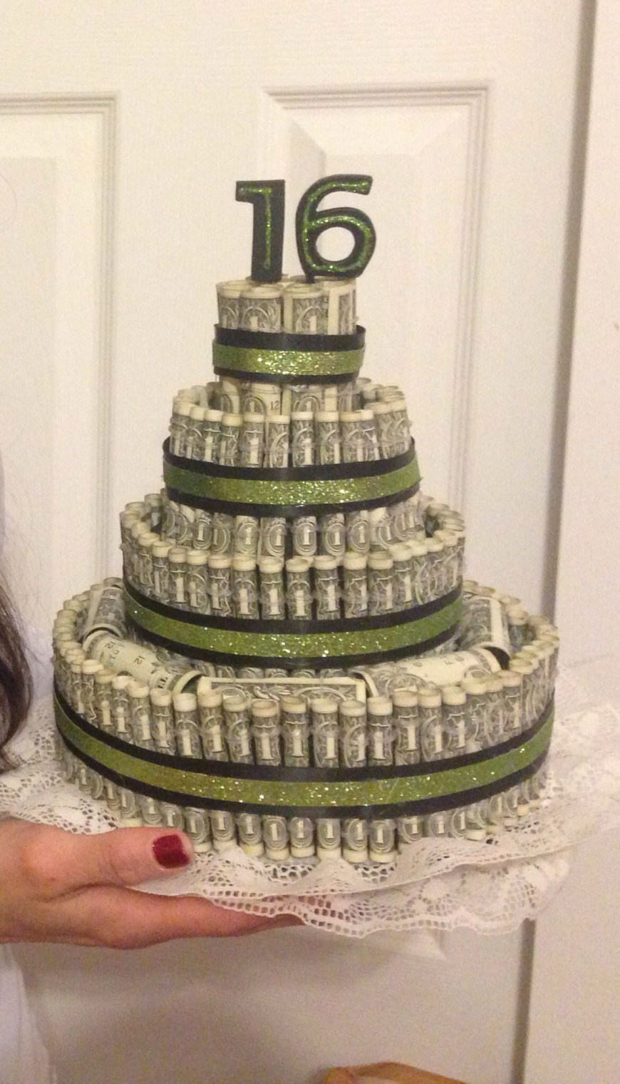 Money Birthday Cake Money Cake 16th Birthday Money Cake Pinterest Money Cake