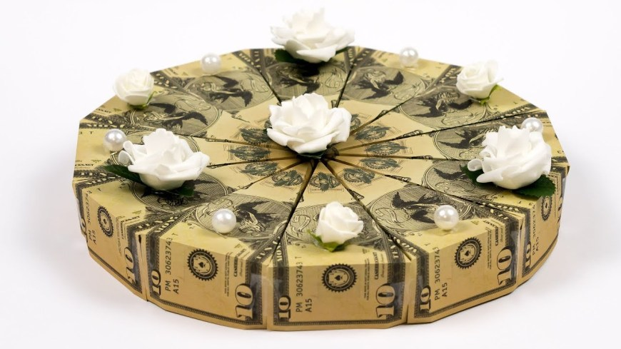 Money Birthday Cake Money Cake How To Make A Dollar Origami Birthday Cake Youtube