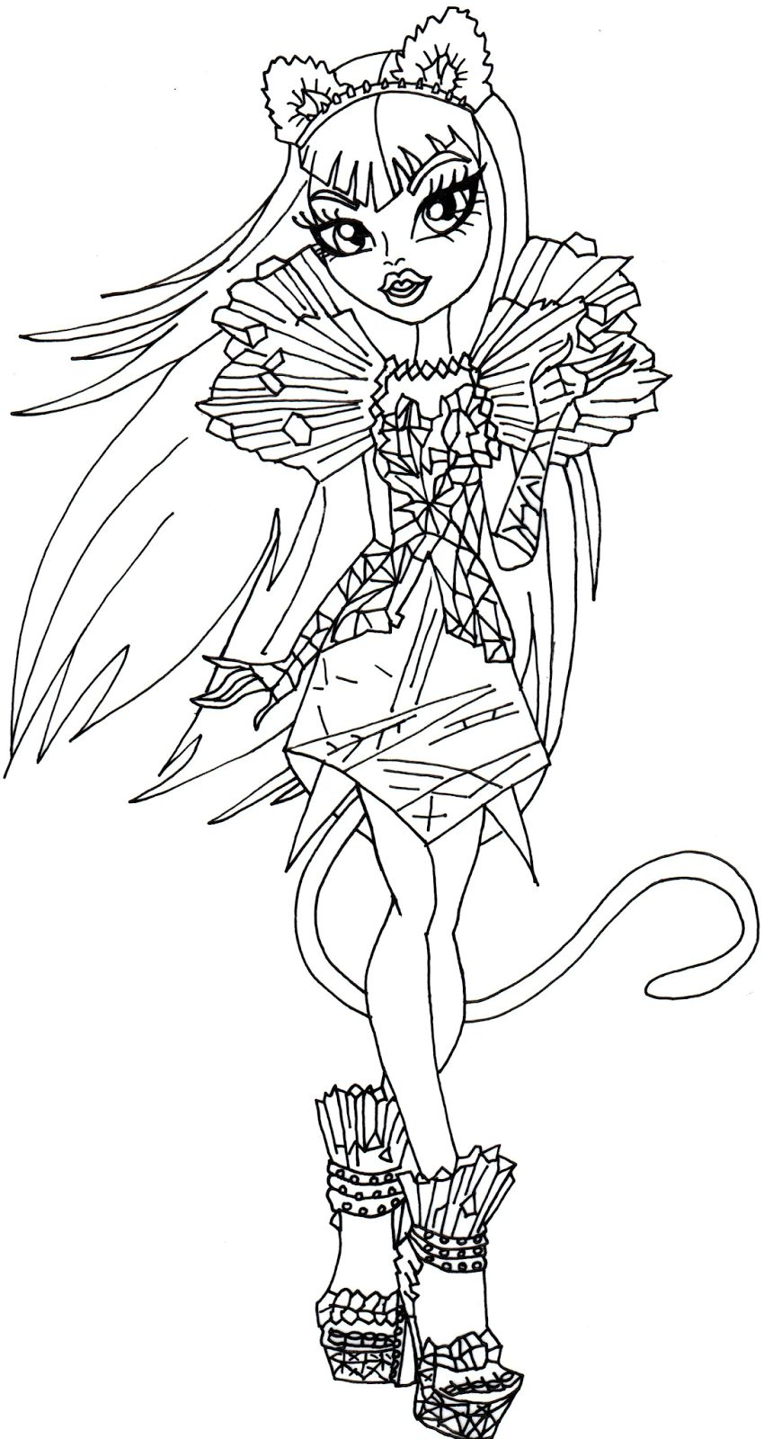 Monster High Coloring Pages Printable Coloring Page Monster High Coloring Book Page Draculaura