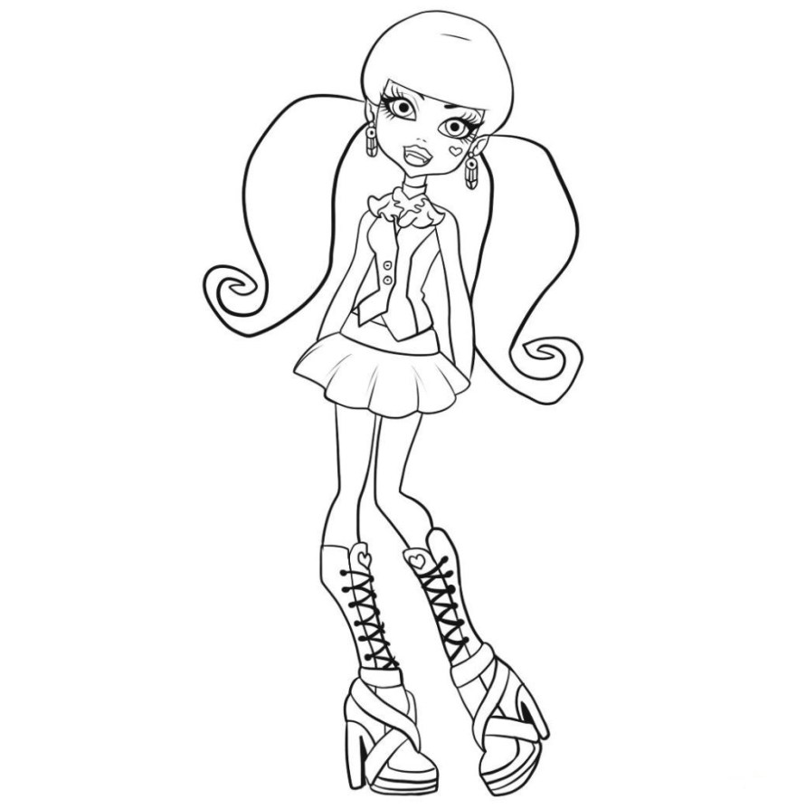 Monster High Coloring Pages Printable Coloring Pages Free Printable Monster High Coloring Pages For Kids