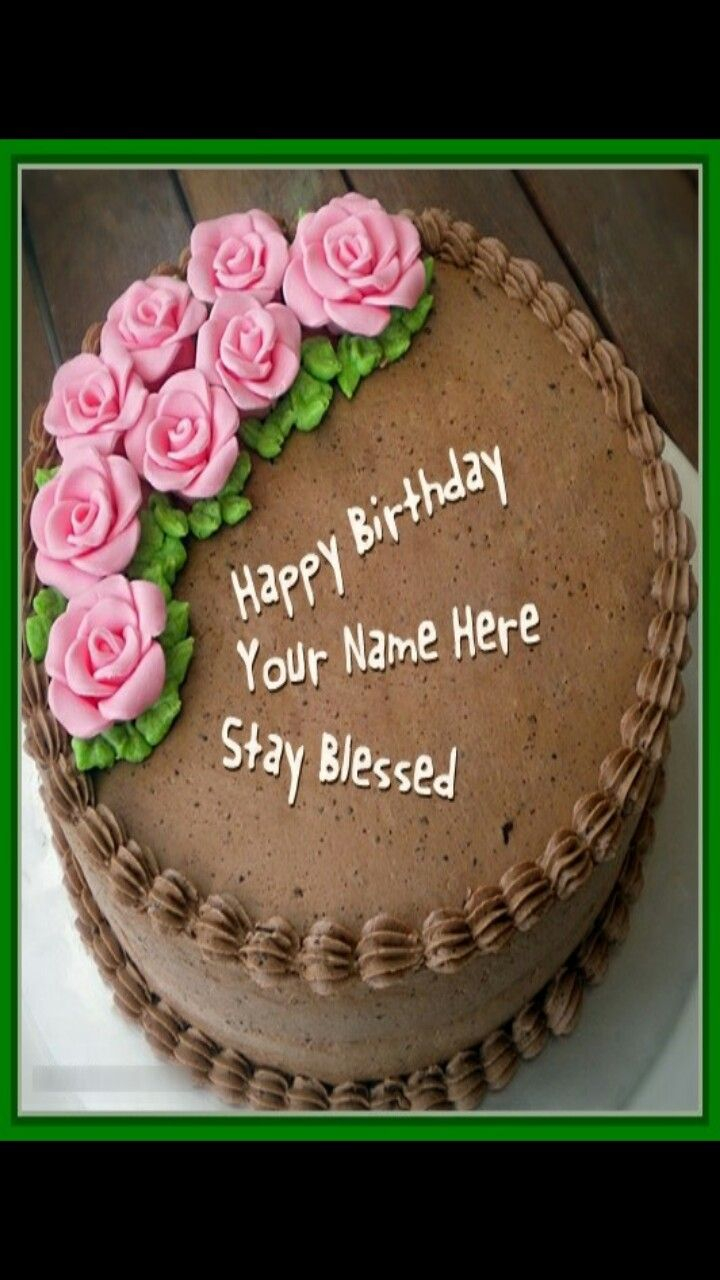 Name On Birthday Cake Pin Naidu Laila Roses