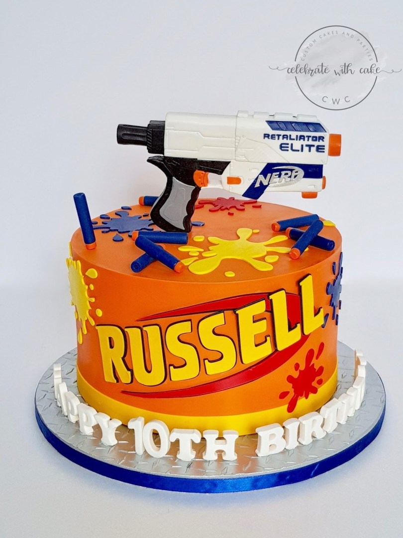 Nerf Birthday Cake A Blog About Customized Cakes In Singapore Nerf Cake Nerf