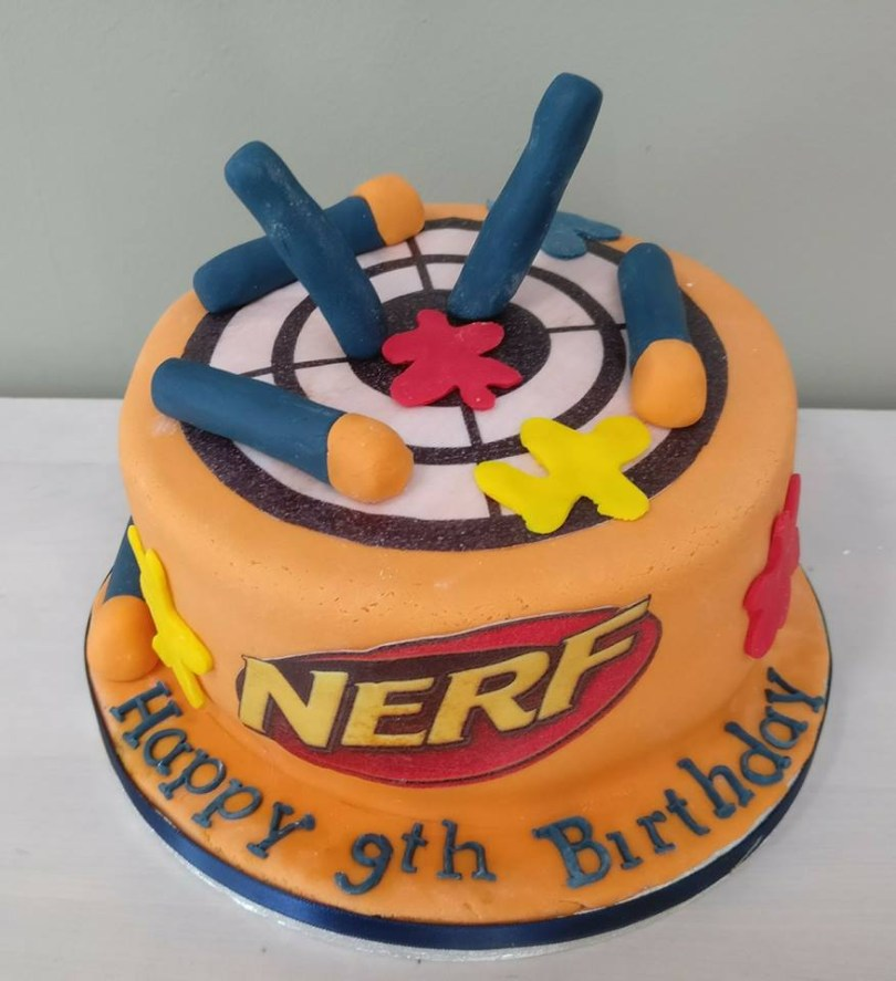 Nerf Birthday Cake Birthday Cakes In Romford Essex Polka Dot Kitchen