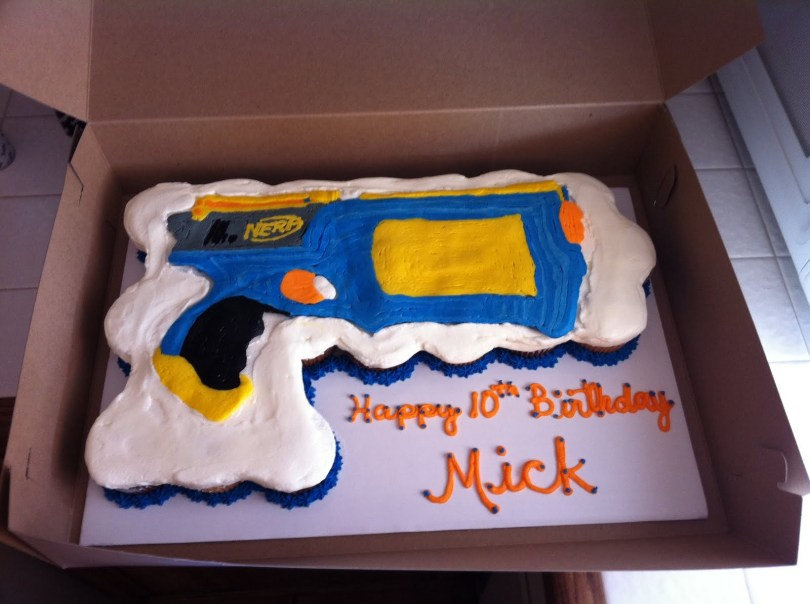 Nerf Birthday Cake Cake Territory Nerf Gun Cupcake Cake