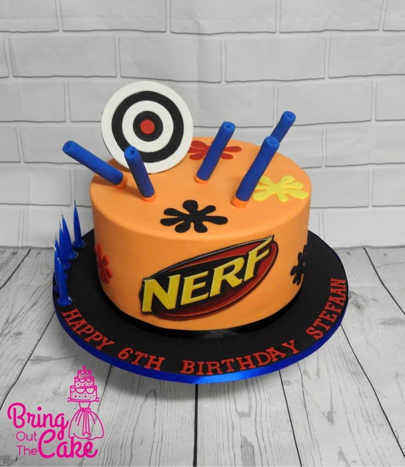 Nerf Birthday Cake Kids Birthday Cakes Berwick Bring Out The Cake Melbourne