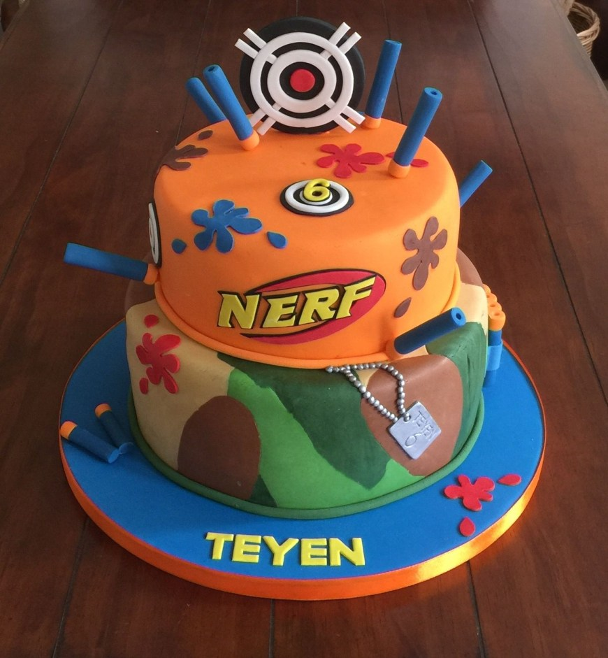 Nerf Birthday Cake Nerf Gun Cake Bday Pinterest Nerf Party Nerf Gun Cake And Nerf