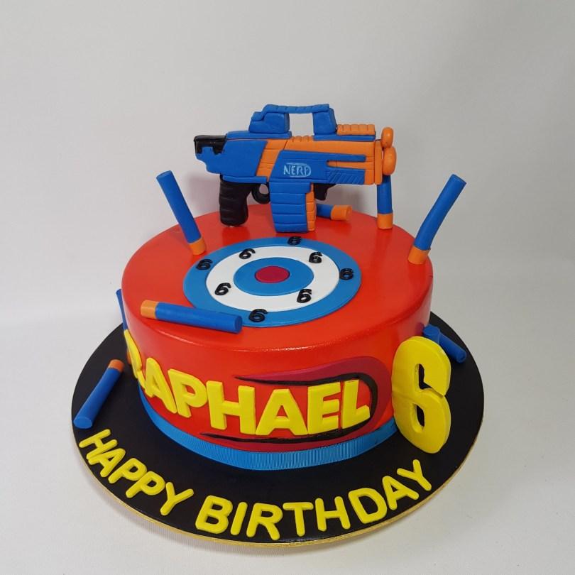 Nerf Birthday Cake Nerf Gun Cake Sooperlicious Cakes