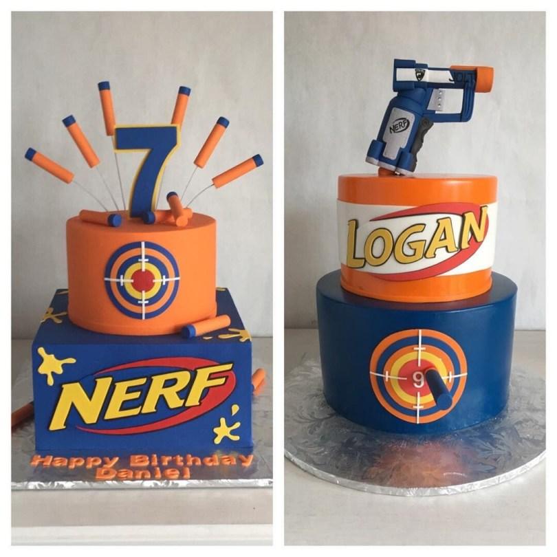 Nerf Birthday Cake Pin Rachel Olis On Wyatts Birthday Pinterest Nerf Birthday