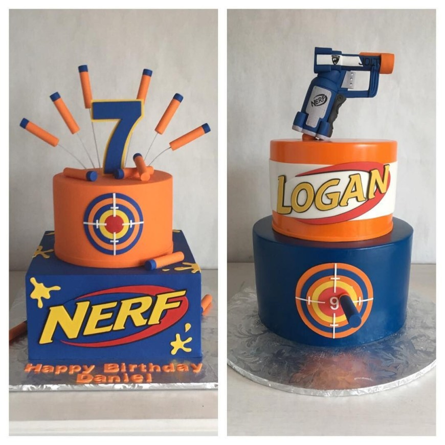 Nerf Birthday Cake Pin Rachel Olis On Wyatts Birthday Pinterest Nerf Birthday