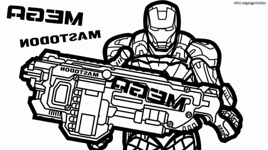 Nerf Gun Coloring Pages Nerf Coloring Pages 5f9r Nerf Coloring Pages Elegant 20 Unique Nerf