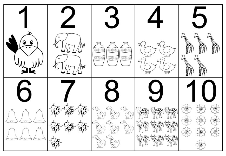 Number 1 Coloring Page Free Printable Number Coloring Pages For Kids