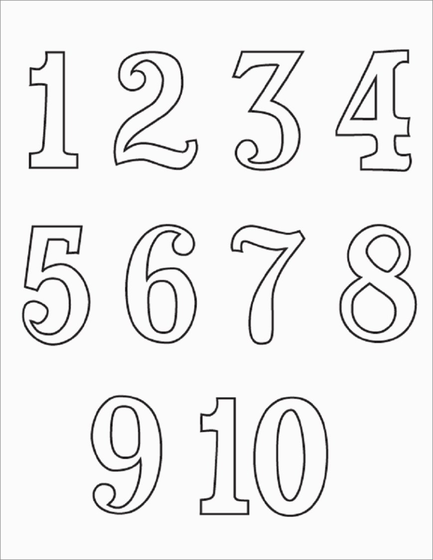 Number 1 Coloring Page Numbers 1 10 Coloring Pages Printable Coloring Pages
