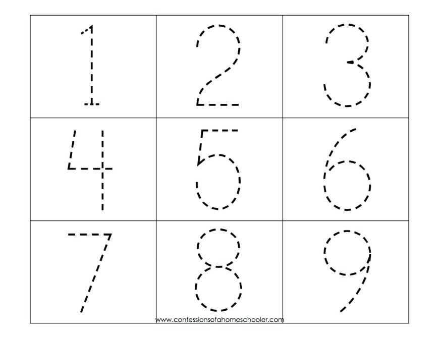 Number 1 Coloring Page Tracing Numbers 1 50 Worksheets Printable Coloring Page For Kids