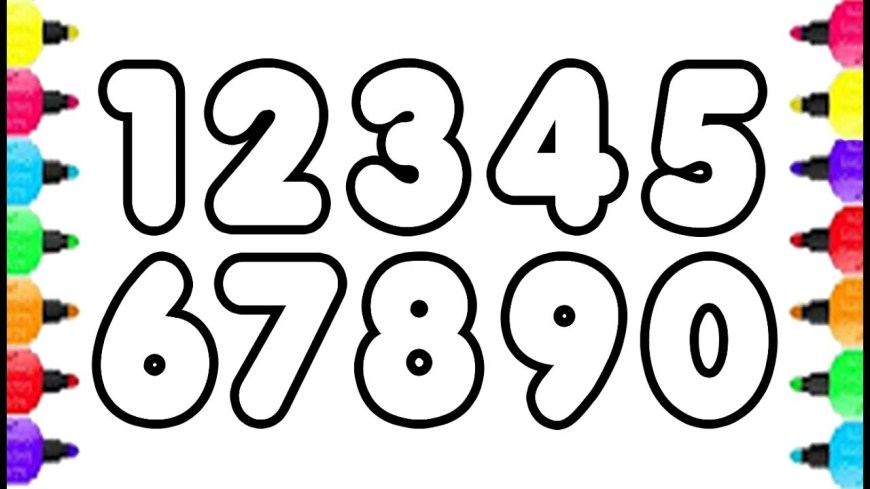 Number Coloring Pages 123 Numbers Coloring Pages How To Draw Numbers 0 To 9 And Coloring