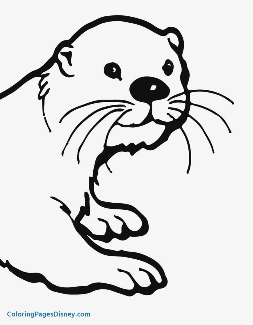 Otter Coloring Pages Easy Otter Drawing Sea Otter Coloring Pages Free Coloring Pages