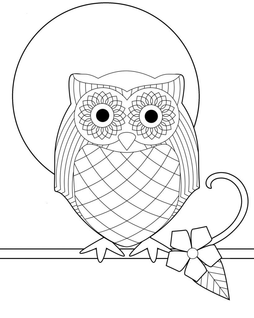 Owl Coloring Pages For Adults Coloring Pages Coloring Pages Owl Book Page Adult Finishedowl