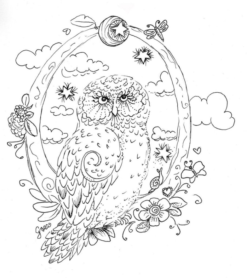Owl Coloring Pages For Adults Owl Coloring Pages For Adults Free Detailed Owl Coloring Pages
