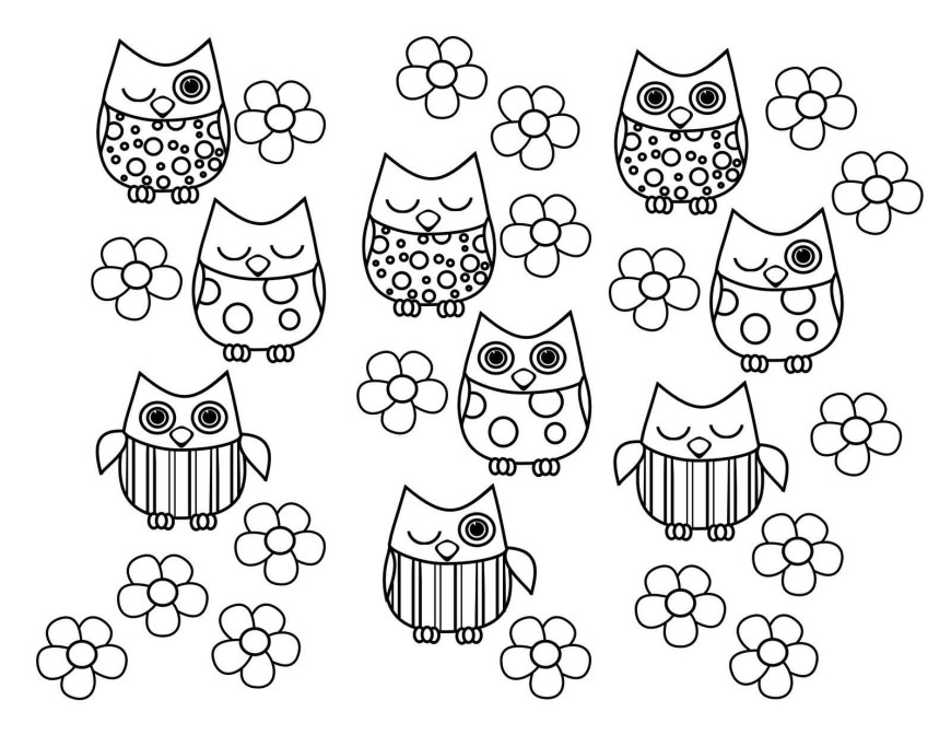 Owls Coloring Pages Printable Owl Coloring Pages Bitslice