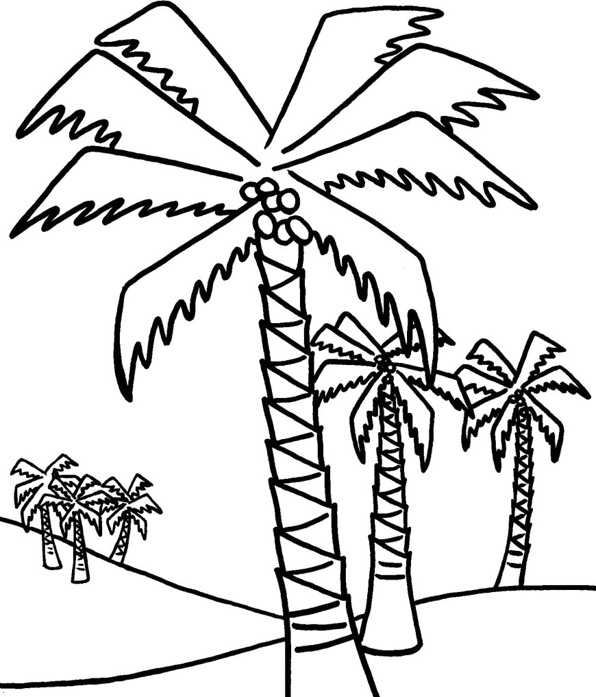 Palm Tree Coloring Page Coloring Pages Coconut Tree Trees Coloring Pages Page Stunning
