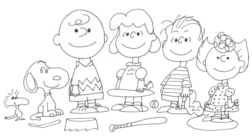 Peanuts Coloring Pages Free Charlie Brown Snoopy And Peanuts Coloring Pages Baseball Game