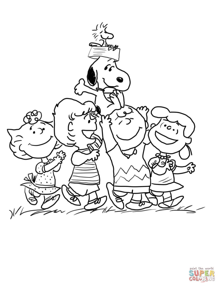 Peanuts Coloring Pages Peanuts Gang Coloring Page Free Printable Coloring Pages