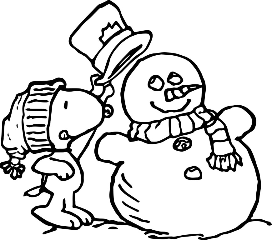 Peanuts Coloring Pages Peanuts Snoopy Winter Coloring Page Wecoloringpage