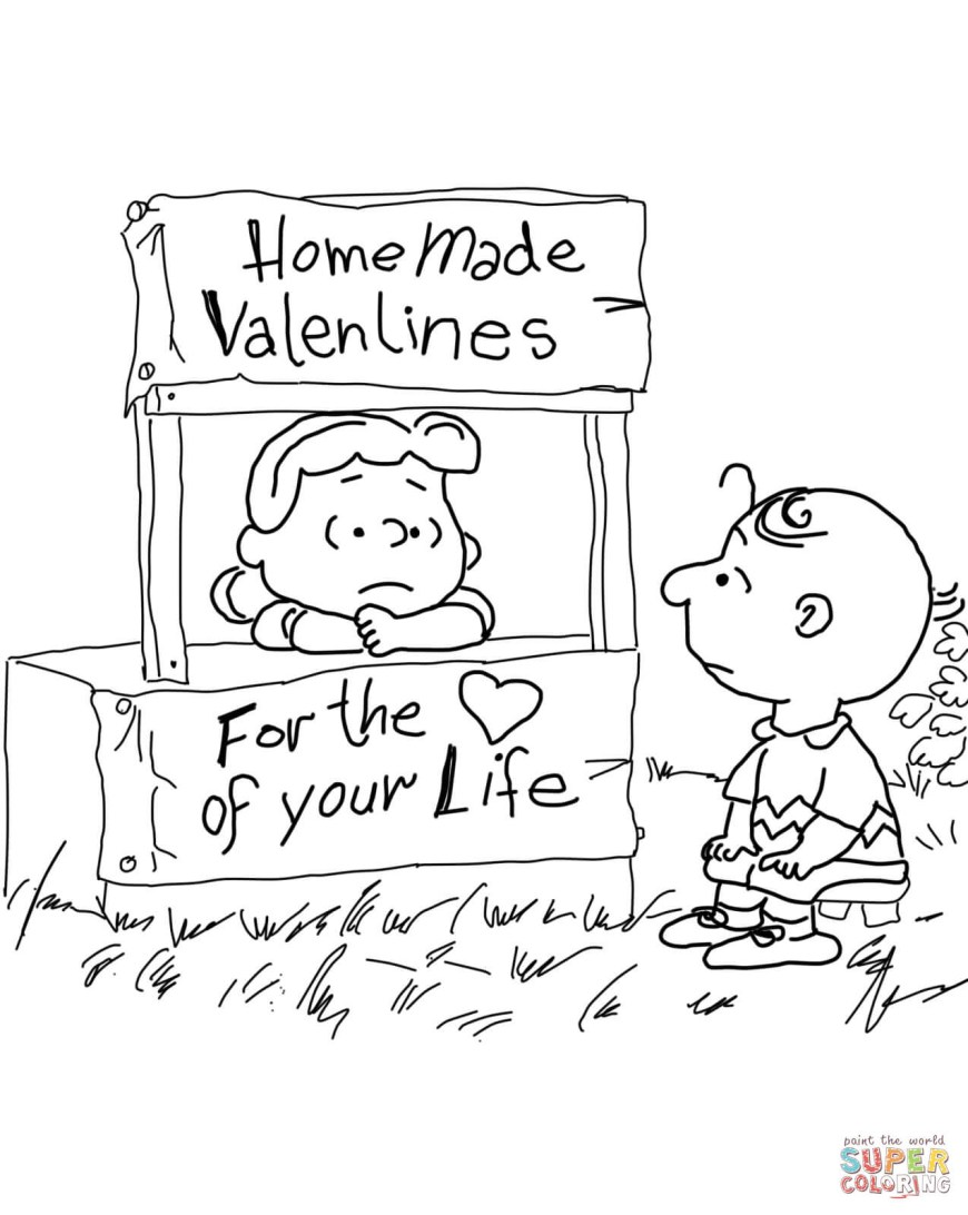 Peanuts Coloring Pages Peanuts Valentines Day Coloring Page Free Printable Coloring Pages