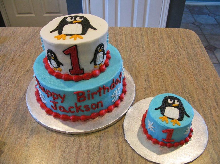 Penguin Birthday Cake A Counselors Confections Penguin Birthday Cake