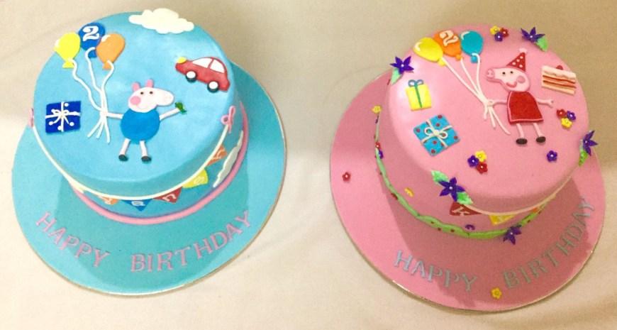 Peppa Pig Birthday Cakes Miras Online Peppa Pig Theme Birthday Cakes For Kids I Order Online