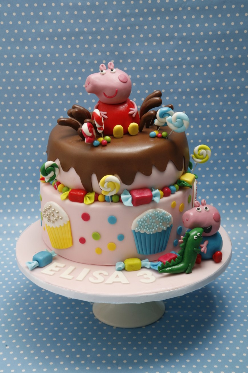 Peppa Pig Birthday Cakes Peppa Pig And George Birthday Cake Cakecentral