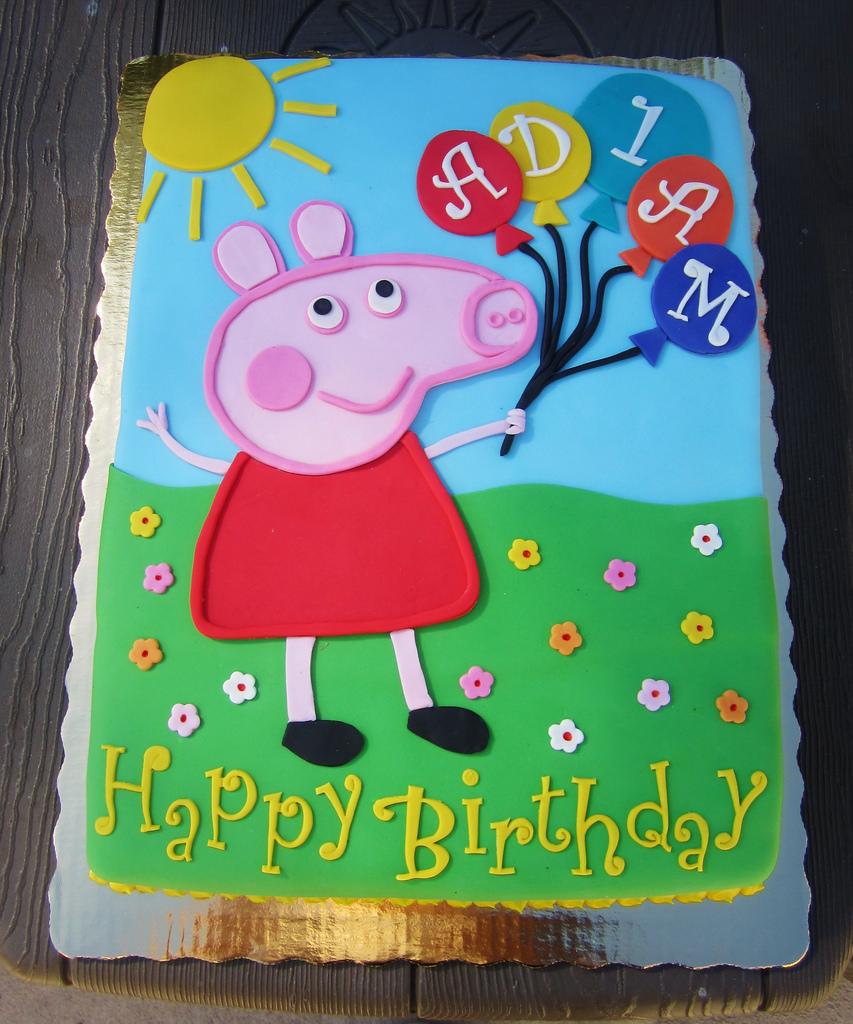Peppa Pig Birthday Cakes Peppa Pig Birthday Cake Daniyellee Flickr
