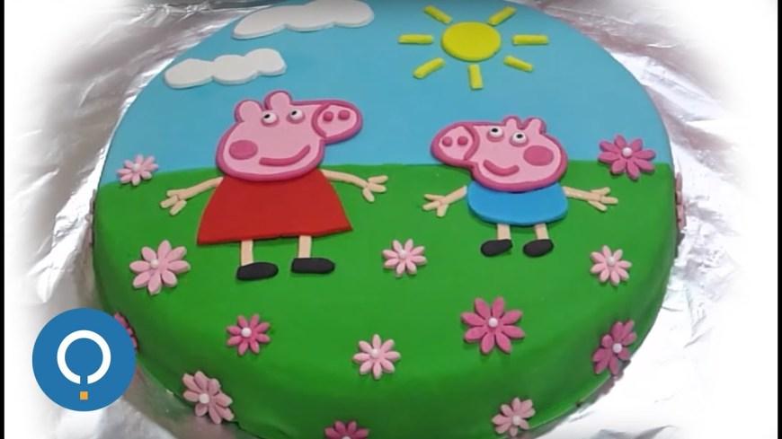 Peppa Pig Birthday Cakes Peppa Pig Birthday Cake Decorating With Fondant Youtube