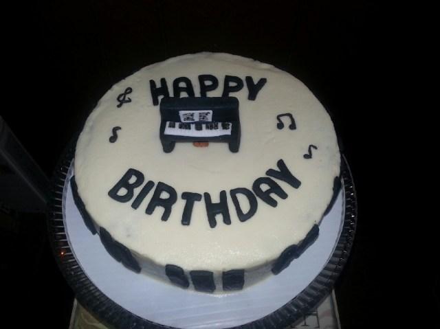 Piano Birthday Cake The Taste Of Music