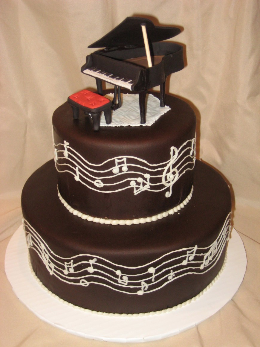 Piano Birthday Cake Wedding Cakes With Piano Theme Piano Cake Wedding Cakes Piano