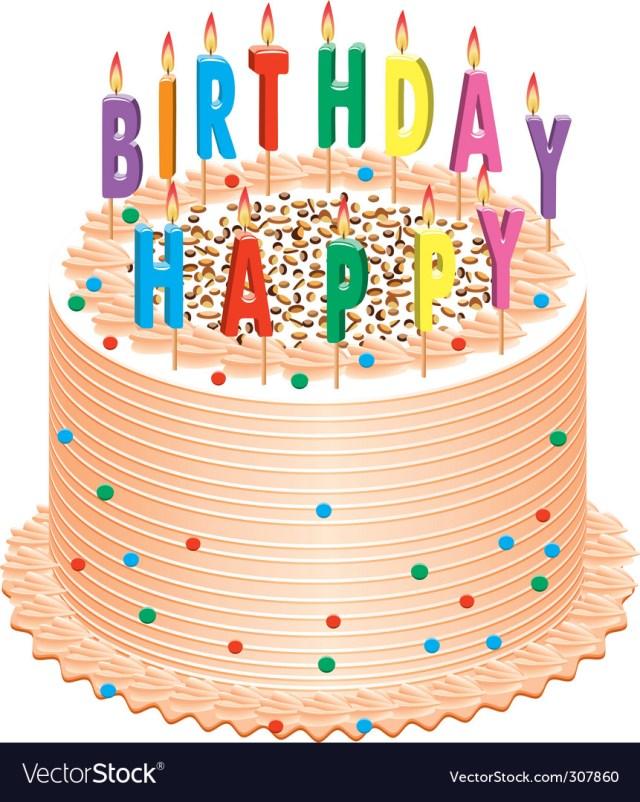 Picture Of Birthday Cake Birthday Cake Royalty Free Vector Image Vectorstock