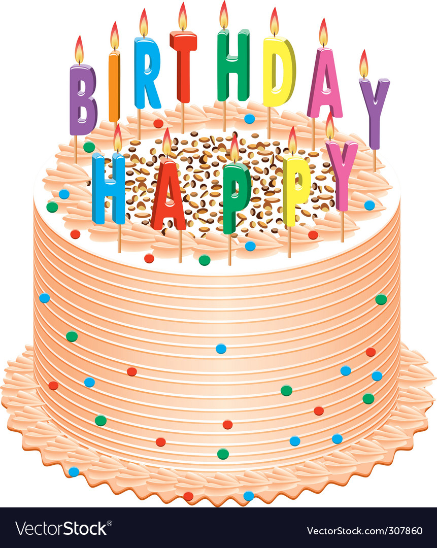 Picture Of Birthday Cake Birthday Cake Royalty Free Vector Image Vectorstock