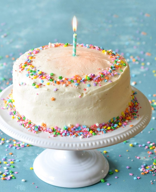 Picture Of Birthday Cake Vanilla Birthday Cake With Old Fashioned Vanilla Buttercream Once