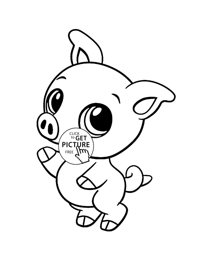 Pig Coloring Page Cute Pig Coloring Pagesll Size Of Page With Wallpapers 1080p Sheets