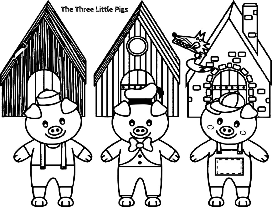 Pig Coloring Page Three Little Pigs Coloring Pages Free Library Pig Page 3 Gerrydraaisma