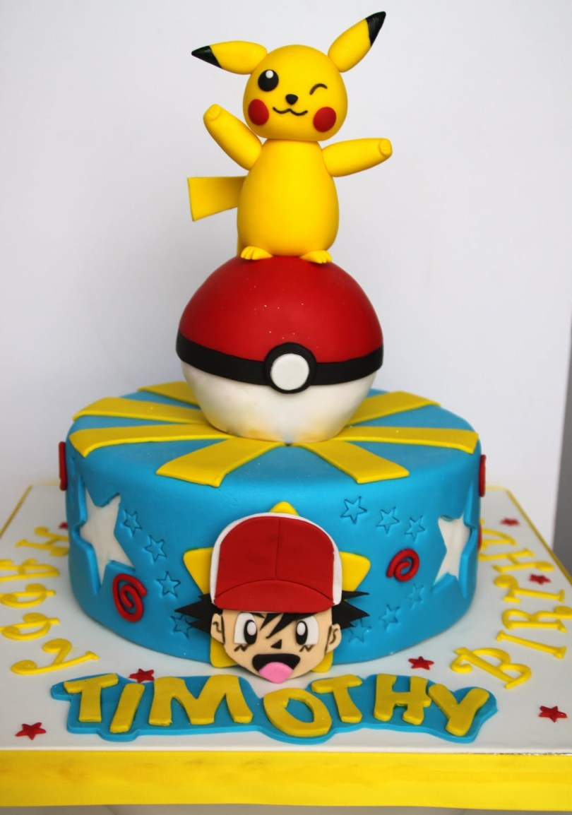 Pikachu Birthday Cake Pikachu Cakes Decoration Ideas Little Birthday Cakes
