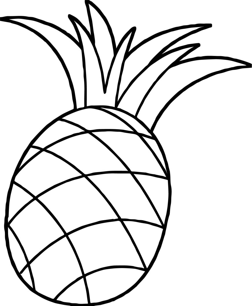 Pineapple Coloring Page One Pineapple Coloring Page Wecoloringpage
