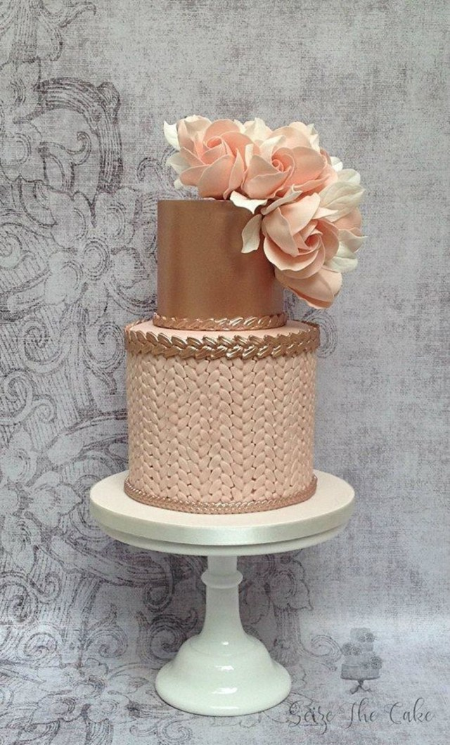 Pink And Gold Birthday Cake Blush Pink And Rose Gold Birthday Cake Cakecentral